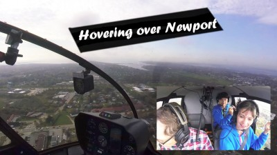Hovering in a Helicopter over Newport