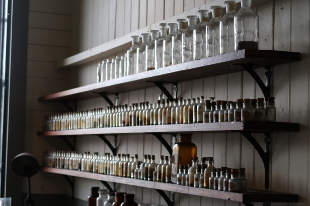 Bottles from Edison's Science Lab