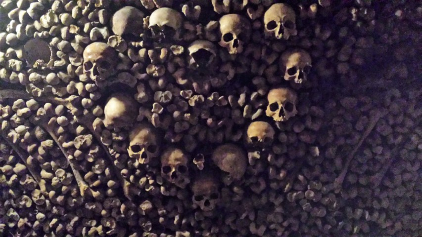 Heart shaped human skulls at Catacombs