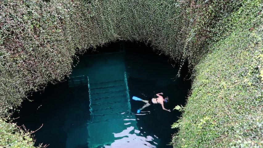 Underground snorkeling