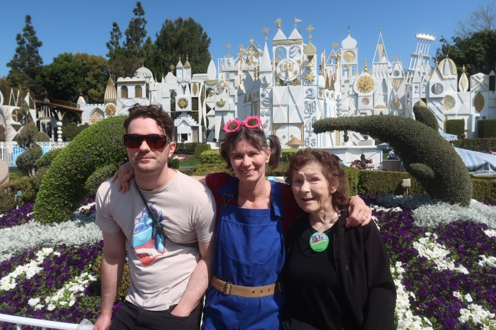 Three generations at It's a Small World in Disneyland